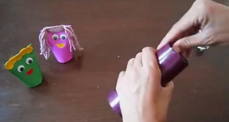 בובות מגליל נייר - YouTube